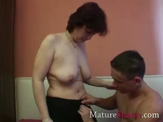 fun granny action, great blowjob thumbnail, mature