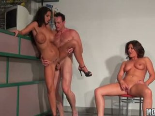 Smutty Bare Black Angelica Enjoys The Trio Fucking Session She Always Craved