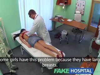 Fakehospital veliko oprsje seksi milf gets zajebal na the examination miza po striking a saucy posel