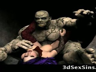 Scary ogres bang 3d ragazze!