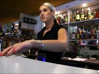 Manis bartender lenka fucked during work