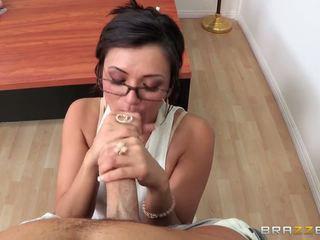 Sesso duro insegnante mostra suo giocattoli e è being scopata difficile su il tavolo