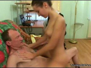 Old tutor gets sik loving action