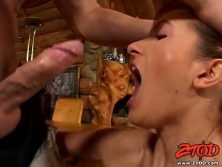 Redheaded Babe Angela Winters Feeds Her Enjoyable Face Hole With A Juicy Dong