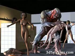 Aliens bang 3d niñas!