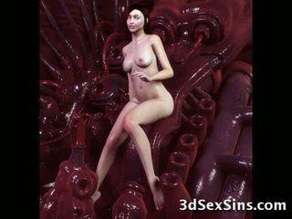 Monsters 附带 上 3d 辣妹! 视频