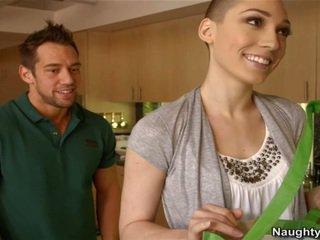 Bald nő lily labeau has egy fogadtatás shag -től neki oustanding joystick szomszéd