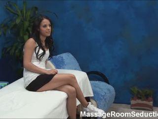 Doll seduced in massage room