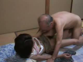 new japanese fun, daughter, fun grandpa hottest