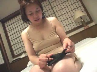 brunette, japanese, real masturbating video