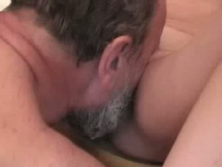 Chubby grandpa fucking young blonde Video