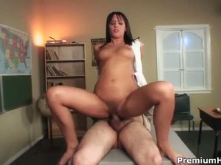 Busty Brunette Nadia Aria Extra Bends Over For Her Boss
