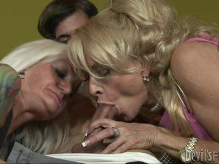 hardcore sex, threesome, mature/milf