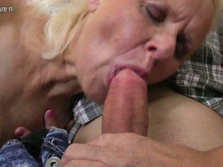 Pair Mature Nymphs Enjoy A Giant Boner In 3some