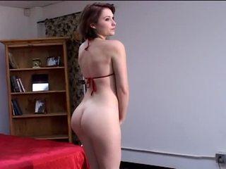 Terangsang besar tetek rambut pirang dan rambut coklat model menelanjangi di seksi photo menembak