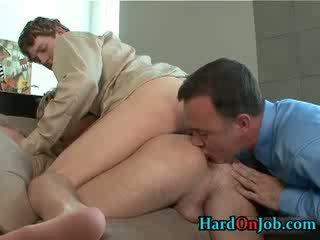 มีอารมณ์ เกย์ เซ็กส์หมู่ 3 คน rimming