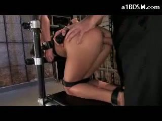Prawan tied to chair in doggy mouthgag getting her mouth fucked whipped burungpun fucked in the ruang paling
