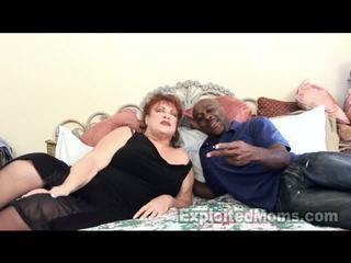 Avó receives bawdy cleft pounded por grande negra caralho