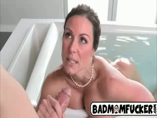 Step Mom is a good sex teacher to the babe ones