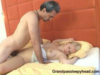 Old Man Bonks Sleeping Nubile Honey Making Her Cumming