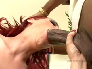 Red Haired Mz Berlin Receives Her Mouth Whacked By A Ma Apertureive Darksome Boner