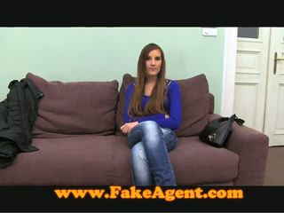 Dissolute Brown Haired Bimbo Masturbates And Screws At A Casting