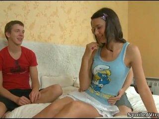 Virgin pupa gets lusty examination