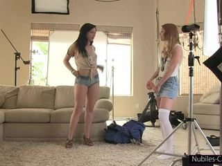 Nubiles Casting - Cameras roll on her very first hardcore shoot