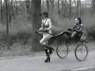 Ponygirl in public