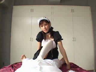 Asian maid cock sucking Video