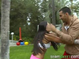 Asyano beyb adrianna luna works out at gets nailed