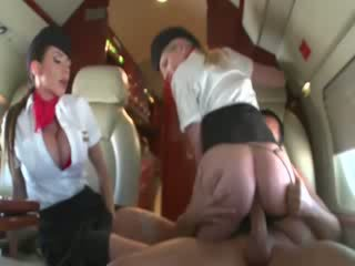 Stewardesses скаче a customers пеніс