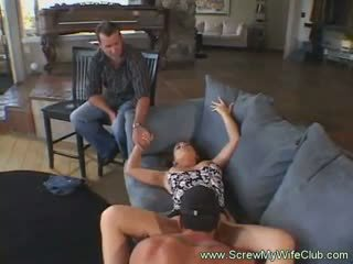 Hubby loved to see his wife sucked and got fucked