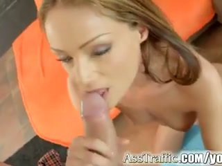 Sophie lynx gets anal fucked i swallows sperma