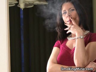 Hot milf mina love to smoke and talk about sex