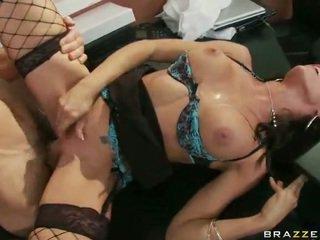 Chick In Erotic Underwear Having Xxx At Work
