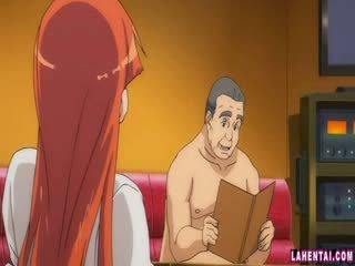Hentai babe slammed by older man