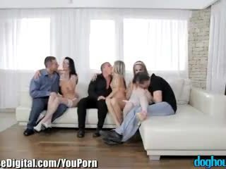 DogHouse Gina Gerson Teen Orgy with Studs