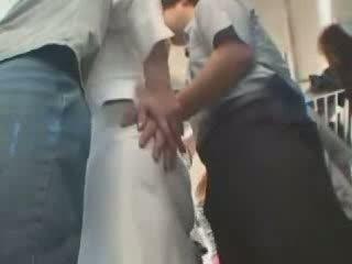 Japanilainen hyväksikäytettyjen sisään julkinen bussi video-