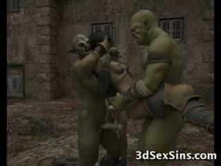 Ogres homosexual 热 3d 辣妹!