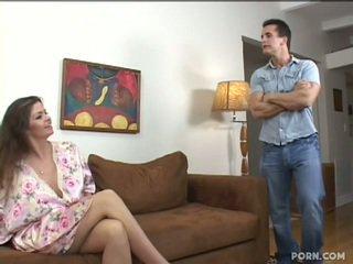거유 step-mom 빌어 먹을 그녀의 아들