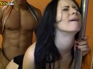 Squirting Brunette Fucked By Monster Penis