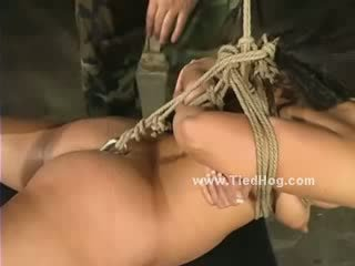 Babe gets herself in trouble after she lets kink man to tie her tight getting abused