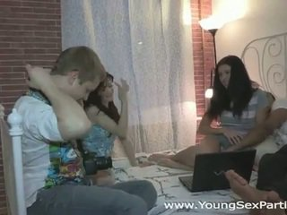 Russian teens hot sex party