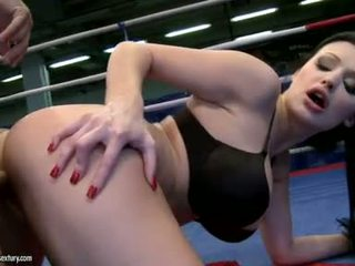 Aletta Ocean Receives Her Sweet Gap Fucked In A Boxing Ring By A Hard Cock