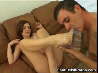 Renee Gets Her Toes Sucked