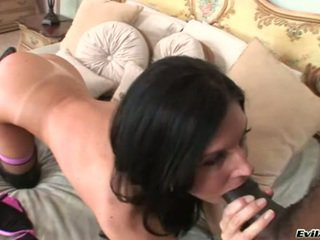 InDia Summers Masturbate A Hard Black Cock On Daybed