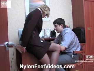 Christie και adam kewl καλτσόν πόδια actionion