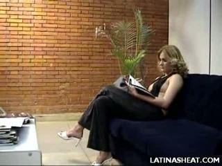 Łaciński laska adriana pokaz od jej mleko cans