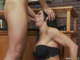 Busty Brunette Taking Fat Cock Deeply Down Her Throat